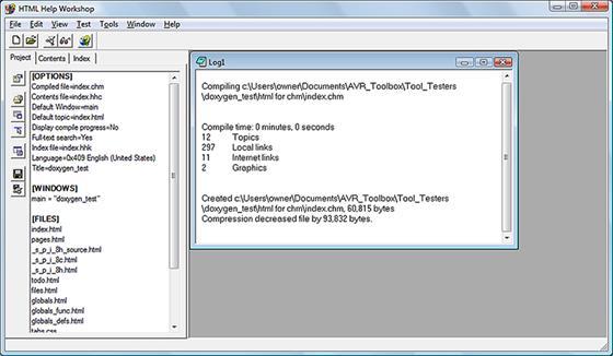 Скриншот программы html help workshop