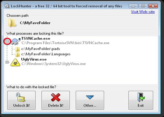 Скриншот программы lockhunter