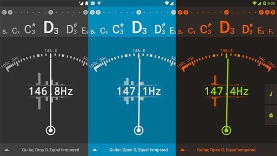 Скриншот программы ap guitar tuner