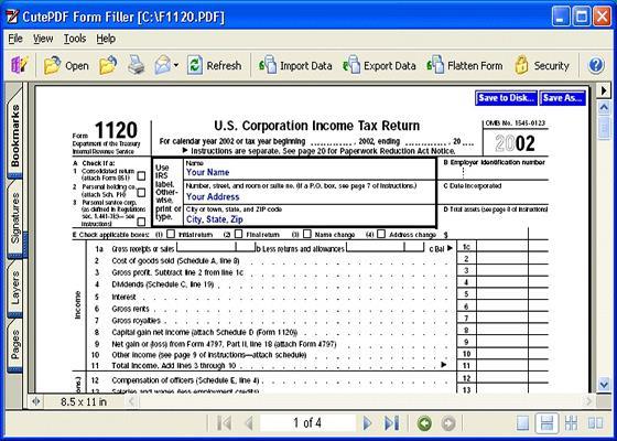 Скриншот программы cutepdf writer для windows 10