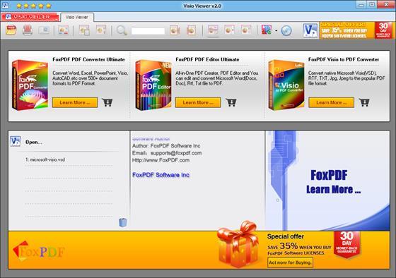 Скриншот программы vsd viewer
