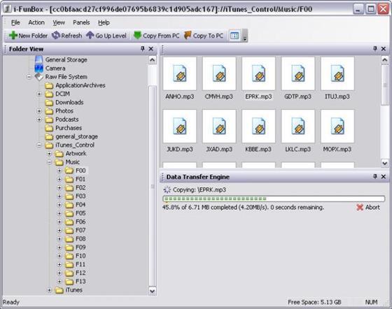 Скриншот программы ifunbox