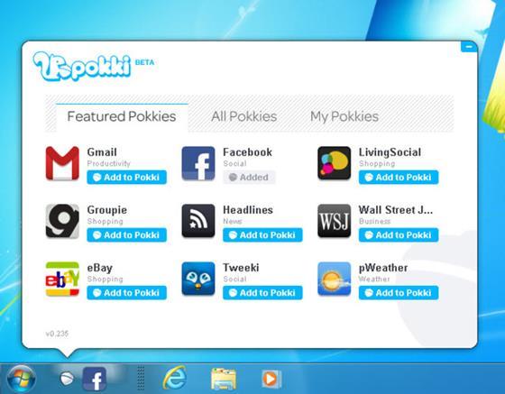 Скриншот программы pokki