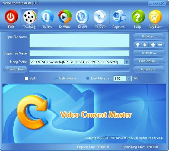 Скриншот программы video convert master