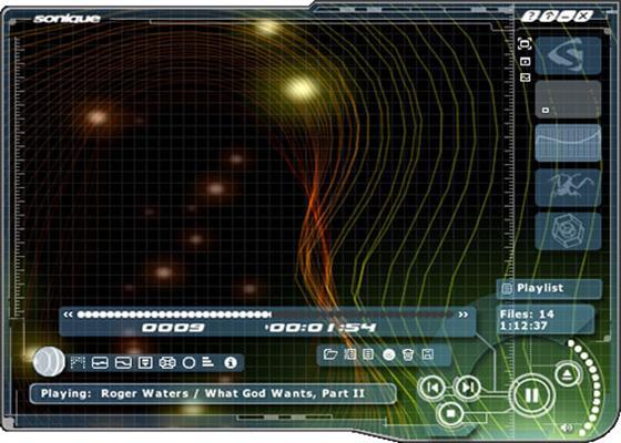 Скриншот программы sonique