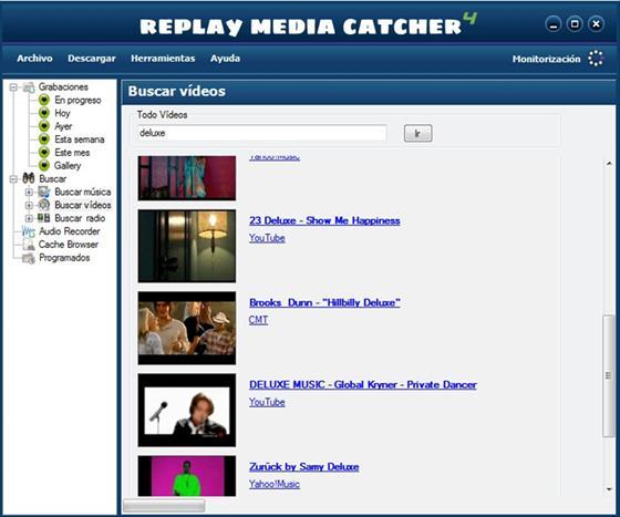 Скриншот программы replay media catcher