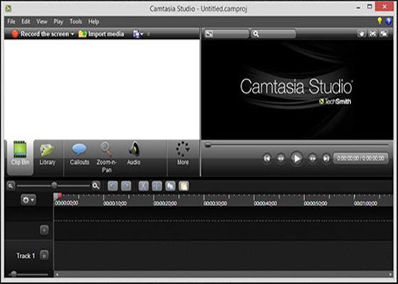 Скриншот программы camtasia studio для windows 7