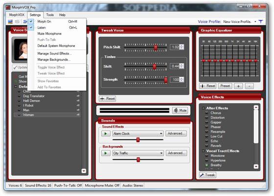 Скриншот программы morphvox pro