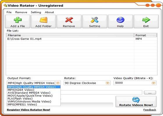 Скриншот программы ww videorotator