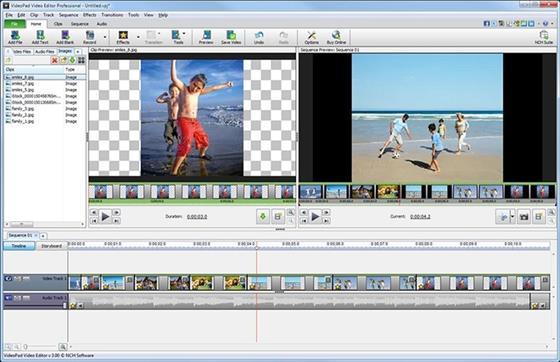 Скриншот программы videopad video editor