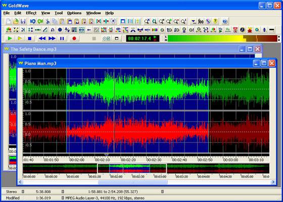 Скриншот программы goldwave