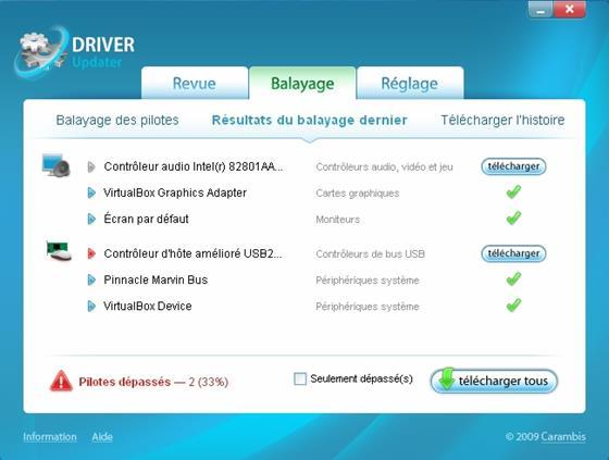 Скриншот программы carambis driver updater