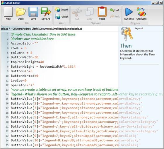 Скриншот программы small basic