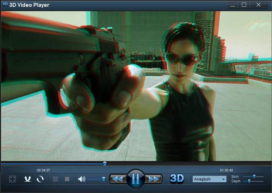 Скриншот программы 3d video player