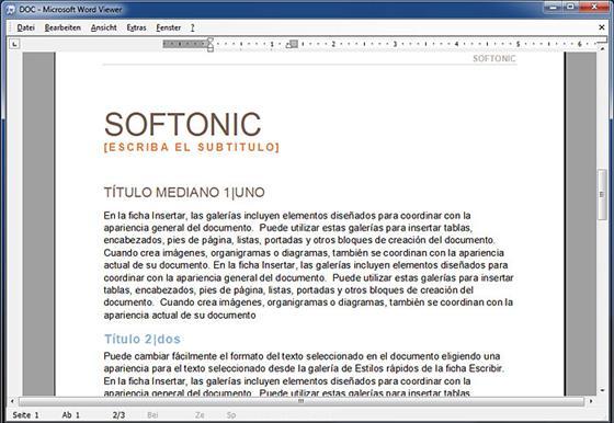 Скриншот программы word viewer