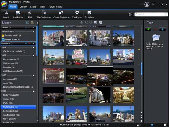 Скриншот программы cyberlink mediashow
