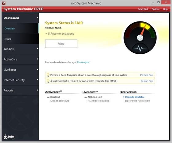 Скриншот программы system mechanic
