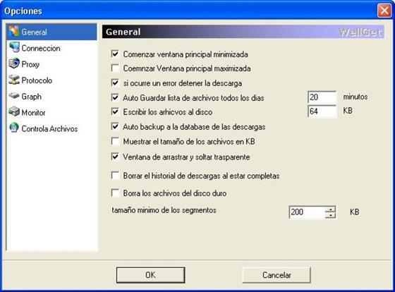 Скриншот программы wellget