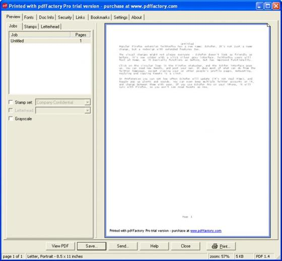 Скриншот программы pdffactory pro