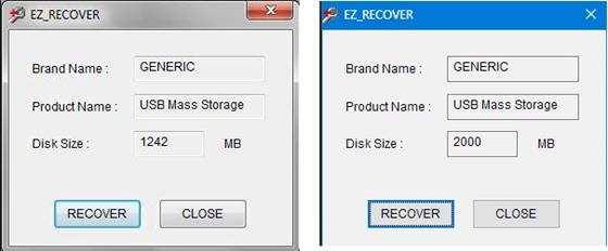 Скриншот программы ezrecover