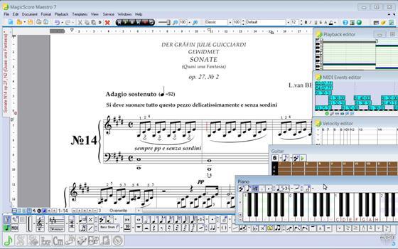 Скриншот программы magicscore maestro