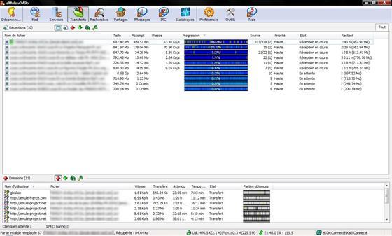Скриншот программы emule