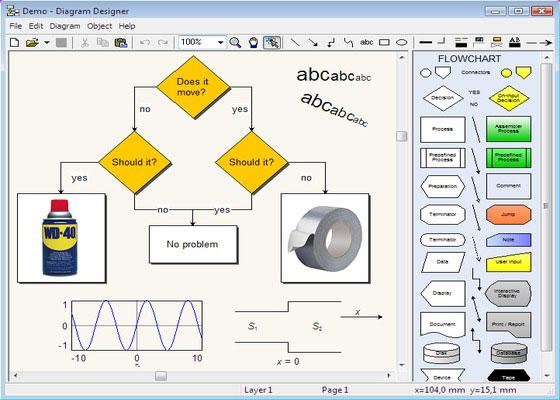 Скриншот программы diagram designer