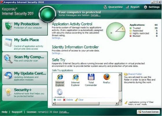 Скриншот программы kaspersky antivirus