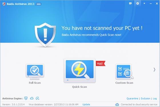 Скриншот программы baidu antivirus