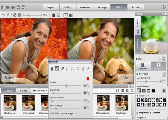 Скриншот программы facefilter