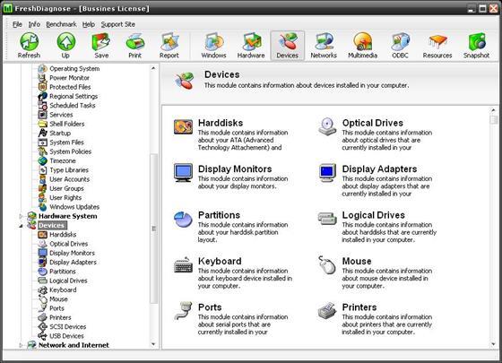 Скриншот программы fresh diagnose