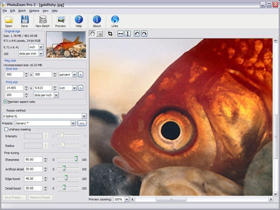 Скриншот программы photozoom pro