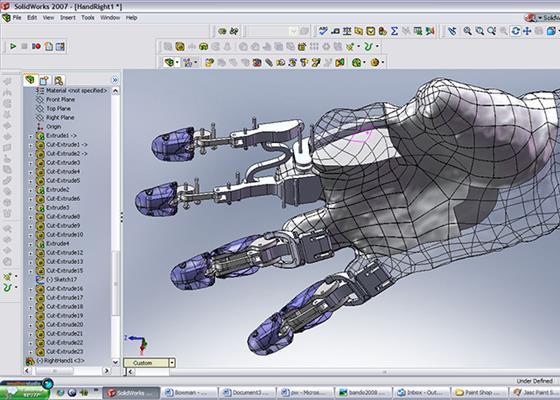 Скриншот программы solidworks