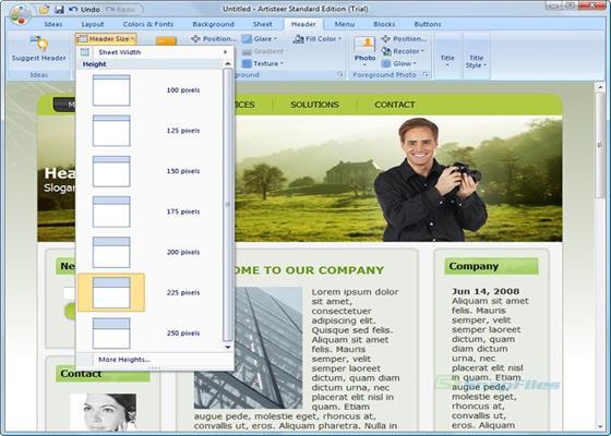 Скриншот программы artisteer