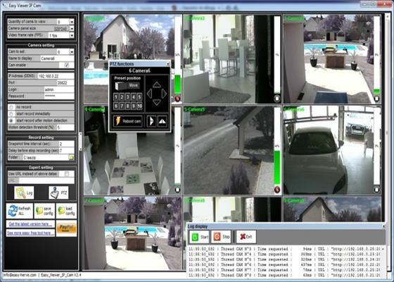 Скриншот программы ip camera viewer