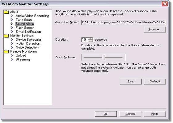 Скриншот программы webcam monitor