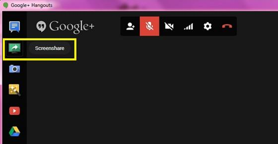 Скриншот программы hangouts