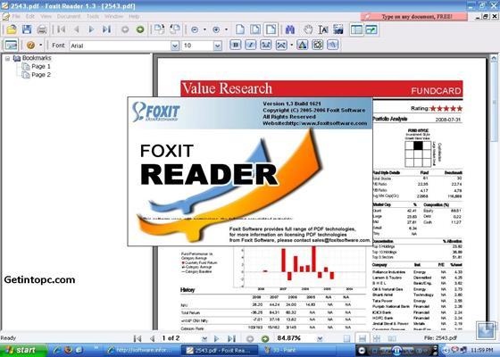 Скриншот программы pdf reader