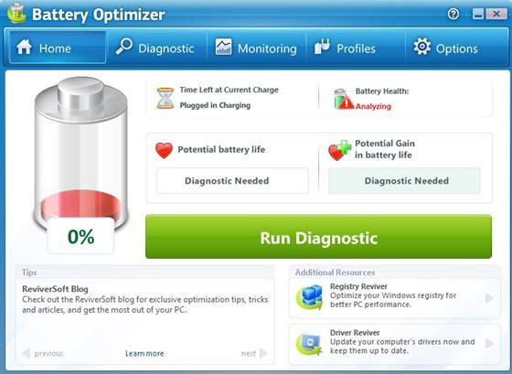 Скриншот программы battery optimizer