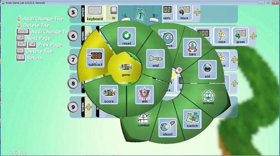 Скриншот программы kodu game lab
