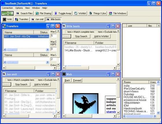 Скриншот программы soulseek