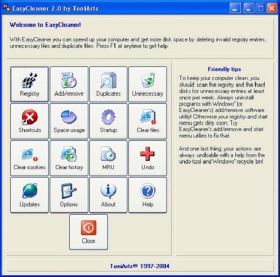 Скриншот программы easycleaner