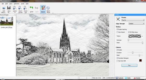 Скриншот программы sketch drawer