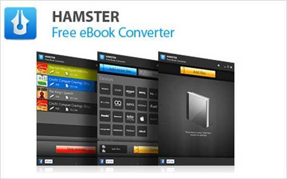 Скриншот программы hamster free ebook converter