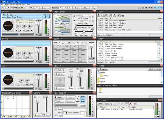Скриншот программы sam broadcaster