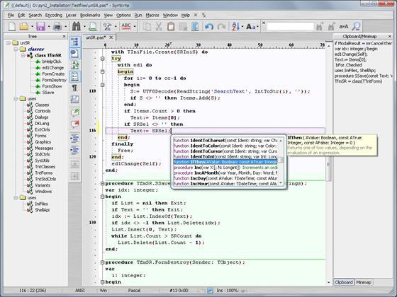 Скриншот программы synwrite