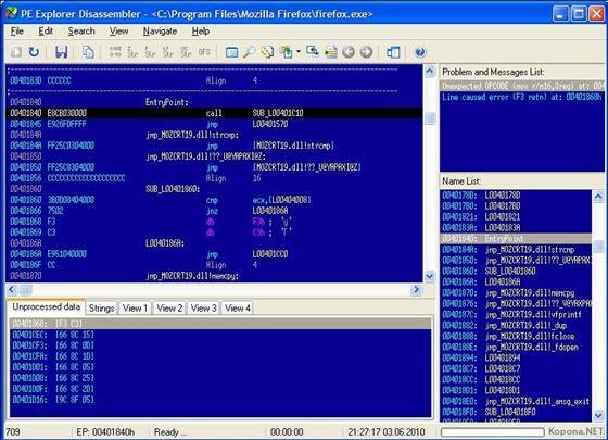 Скриншот программы pe explorer
