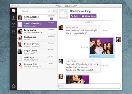 Скриншот программы viber для компьютера