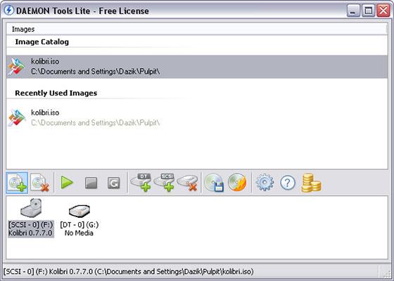 Скриншот программы daemon tools lite 4