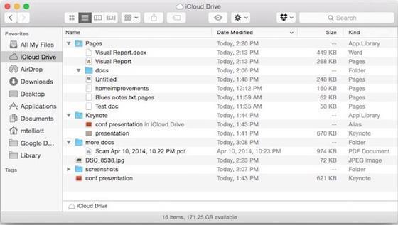 Скриншот программы icloud